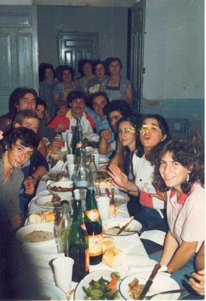 Cena de las vaquillas años 80