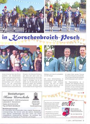 Quelle: Korschenbroich im Mittelpunkt, 07/2011, Seite 2