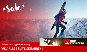 Große Auswahl an Wintersportausrüstung auf bergfreunde.de