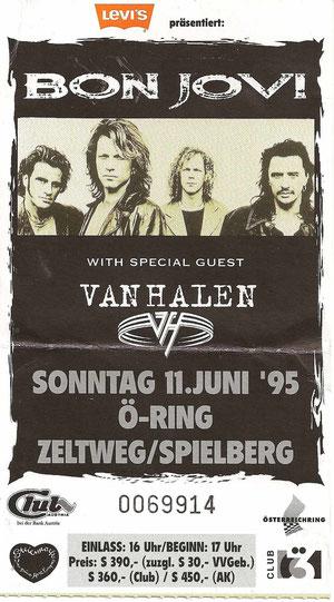 Bon Jovi Spielberg 11. Juni 1995
