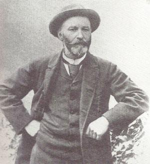 Mag. Hermann von Findenegg - Erstbesteiger des Montasch (1877)