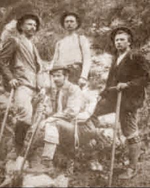Die Legenden des Trentatales: Jože Komac, Ivan Berginc, Tožbar  und Andrej Komac