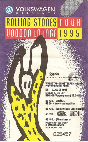 Rolling Stones, Voodo Lounge Tour, Spielberg 1. August 1995