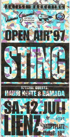 Sting 12. Juli 1997 Lienz
