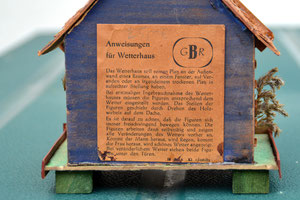 Bild: Wetterhäuschen Wünschendorf Berger 1965