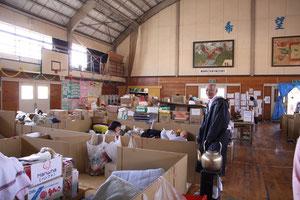 青葉中学校避難所