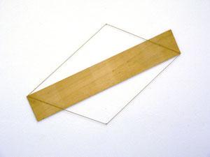 """Alf Schuler, """"o.T."""", 1975, Mischtechnik Holz, Hanfschnur, ca. 66 x 106 cm"""
