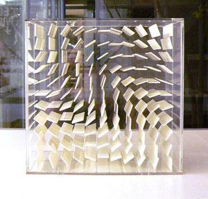 """Hartmut Böhm, """"Raumstruktur"""", 1970/71, Plexiglas, weiß, 25,5 x 25,5 x 15,5 cm, Ed.50+1 E.A."""