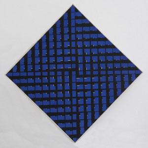 """Hartmut Böhm, """"Zentralisation I"""", 1961, Öl auf LW, 80 x 80 cm"""