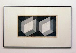 "Josef Albers, ""Bioconiugate"", 1940, Mischtechnik auf Papier, gerahmt, 43 x 70 cm"