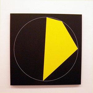 Getulio Alviani, 2012, Acryl auf Leinwand, 90 x 90,3 cm