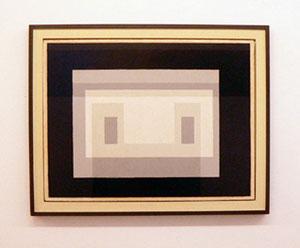 Josef Albers, 1947, Öl auf Holz, 61 x 80 cm, gerahmt, 72,5 x 91,3 cm