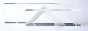 """Werner Krieglstein, """"2 F - ST - G"""", 2003, Plexiglasobjekt, 4-tlg. 59 x 16 x 8 cm"""