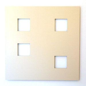 "Hartmut Böhm, ""Progression 1,4,9,16 - innen"", 2005/2006, Dibond, 120 x 120 x 2,4 cm"