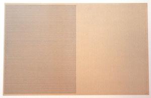 """Ad Dekkers, """"Tekening"""", 1973, schwarze Tusche auf Transparentpapier in Gelamin einkaschiert, doppelseitig, ungerahmt 45,8 x 69,7 cm"""