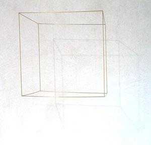 """Gianni Colombo, """"spazio elastico-cubo, Pulsierender Würfel"""", 1968, elektrisch angetriebener, sich drehender Würfel, Kantenlänge 41 cm, Ex. 22/25"""