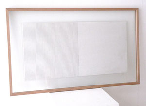 """Ad Dekkers, """"o.T."""", 1972, schwarze Tusche auf Transparentpapier in Gelamin einkaschiert, doppelseitig, entsprechend gerahmt, 31 x 60,5 cm"""