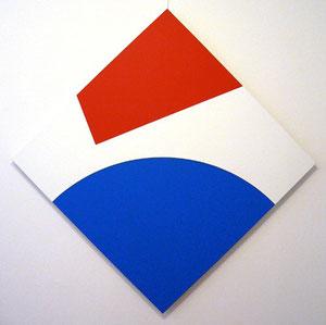 """Bob Bonies, """"o.T. """", 2002, Acryl auf Leinwand, 140 x 140 cm"""