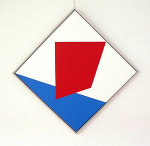 """Bob Bonies, """"o.T."""", 1968, Öl auf Leinwand, gerahmt, 63 x 63 cm"""