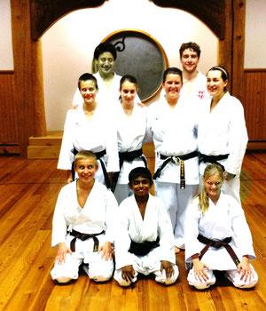 Bild mit den qualifizierten Karatekas