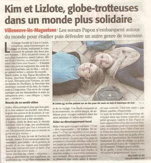 Article paru dans le journal Midi Libre le 17/02/2013