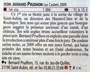 """St-Aubin 1er cru """"Les Castets"""" 2009"""