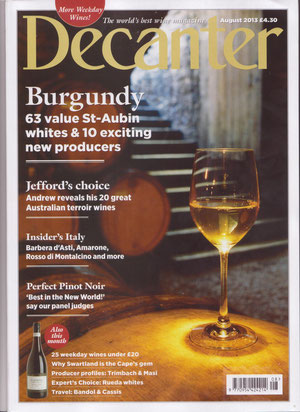Decanter, Août 2013
