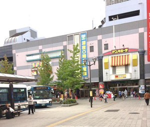 大型のディスカウントストアやチェーン中華食堂があります。