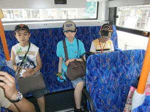 ▲ バス下車の準備は何度も確認をしていました