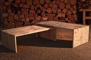 Salontische aus Fichte-Altholz