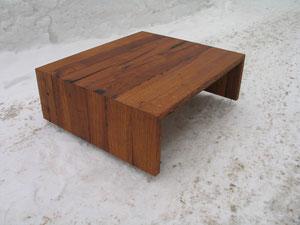 Salontisch aus Eichen-Altholz, geölt