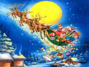 http://www.nataleimmagini.com/images/Santa-On-Comet-On-Cupid.jpg
