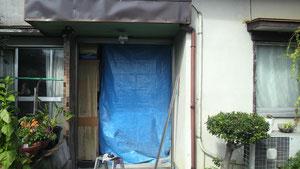 旧扉をはずして・・・