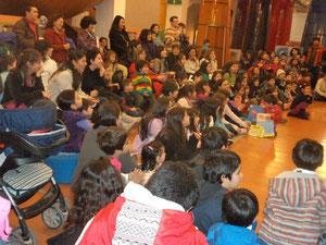 Presentación en la Biblioteca de Santiago en ocasión del receso escolar de invierno.
