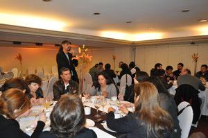Cena de cierre Encuentro de Bibliomóviles en Santiago organizado por la DIBAM