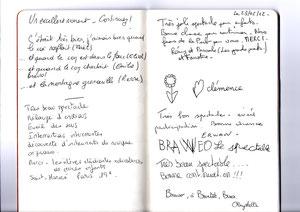 extrait du livre d'Or - Théo Théâtre 2012