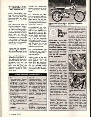 Testbericht MK2 Motorrad Ausg. 10/1978