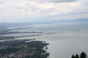 Bodenseeblick mit Rhein