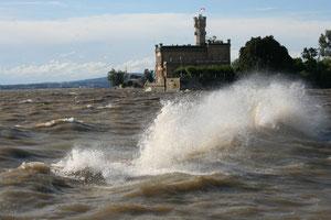 Bodensee bei Sturm