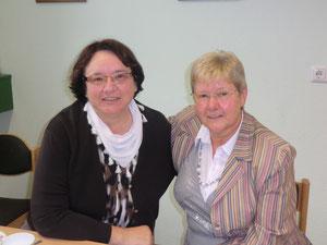 eine Gratulantin war auch Karin Endres -                    zusammen haben die beiden mehr als 80 Jahre geballte BBV-Erfahrung