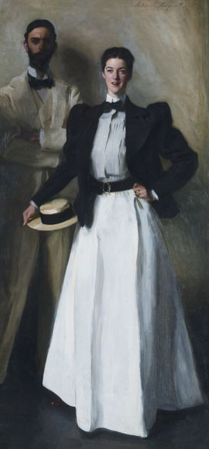John Singer Sargent (1856–1925) Mr and Mrs IN Phelps Stokes 1897. Oil on canvas, 214 x 101cm (84 1/4 x 39 3/4in.) Bequest of Edith Minturn Phelps Stokes (Mrs IN), 1938. Collection: The Metropolitan Museum of Art, New York. Image © The Metropolitan Museum