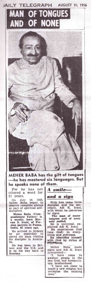 Meher Coutesy of ; Baba Australia newsletter - Oct.1984, p7