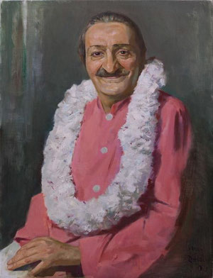 Meher Baba in Washington D.C. July 30 1958 ; Artist - Gregg Rosen