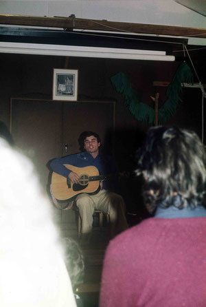 1975 ; Chris performing at Avatar's Abode Anniversay ; Photo taken by Anthony Zois