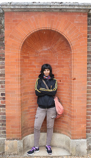 Michelle at Hampton Court, England