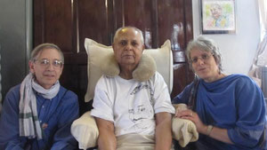 David & Louise with Bhau Kalchuri
