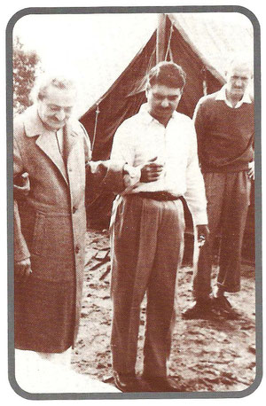 Avatar's Abode ; Baba with Eruch Jessawala & Dr.Denis O'Brien ; Glow mag.August 2002  p.18