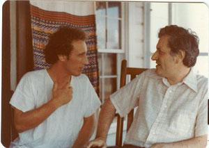 Lyn talking to Hermes ( left )