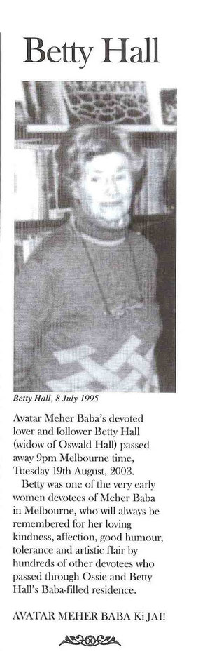 Courtesy of Meher Baba Newsletter - Australia ; Issue - Issue November 2003