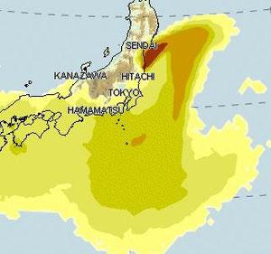 4/5 ドイツ気象局 出典:ネット情報  ☆日本の優れた緊急時迅速放射能影響予測ネットワークシステム(SPEEDI)は一般公開されなかった?。